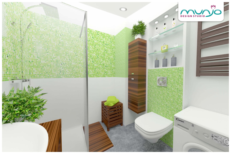 łazienka tropikalna projekt
