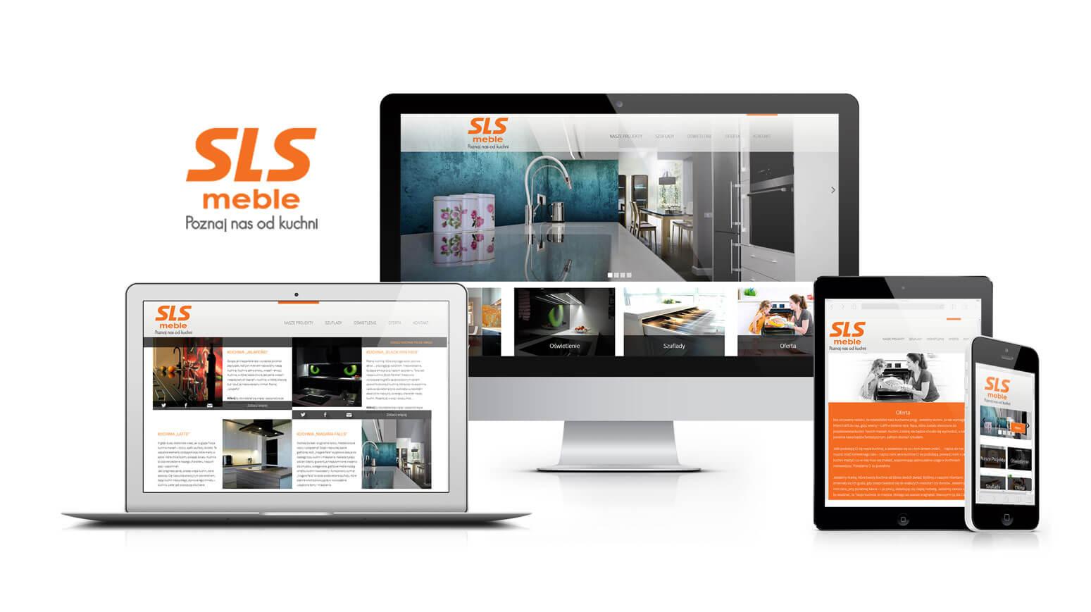 projekt strony www dla sls meble