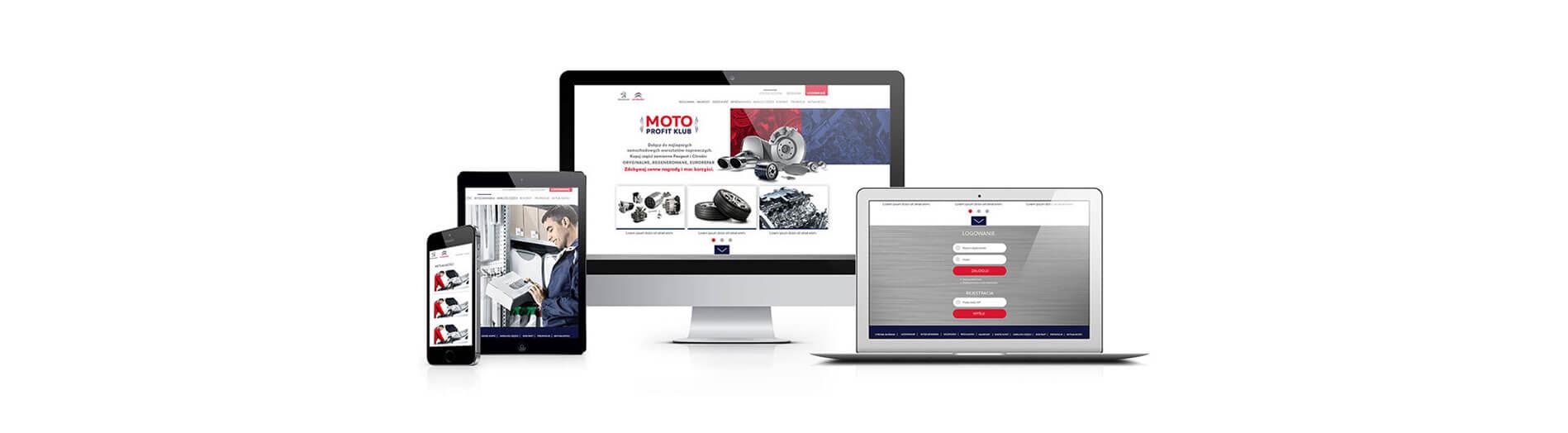 strony internetowe grafika moto profit klub