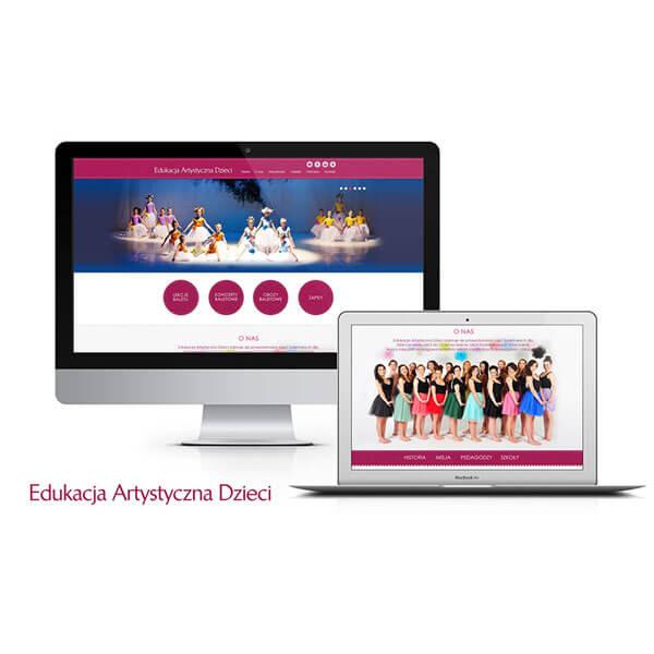 projekt strony www edukacja artystyczna