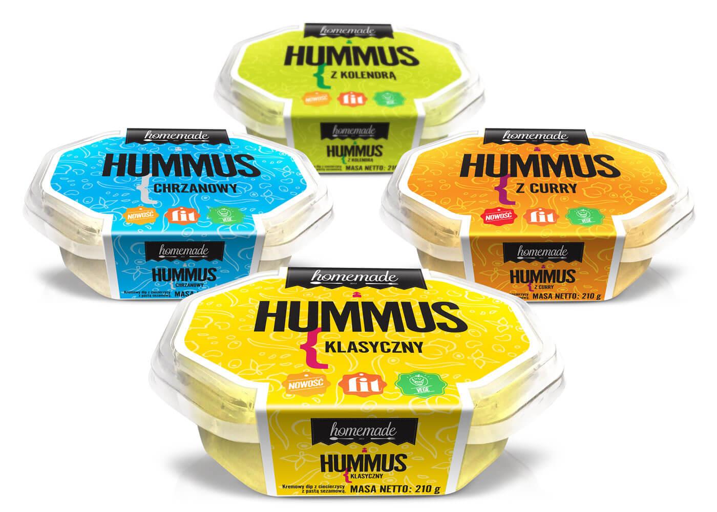 hummus opakowanie homemade