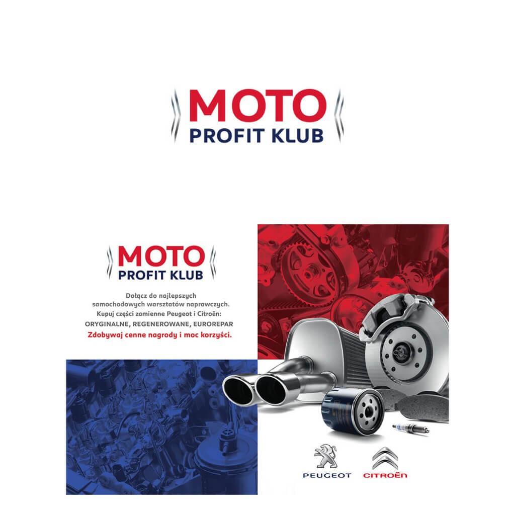 projektowanie logo moto profit klub