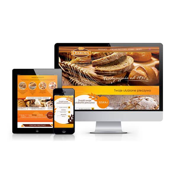 projekt strony internetowej oskroba