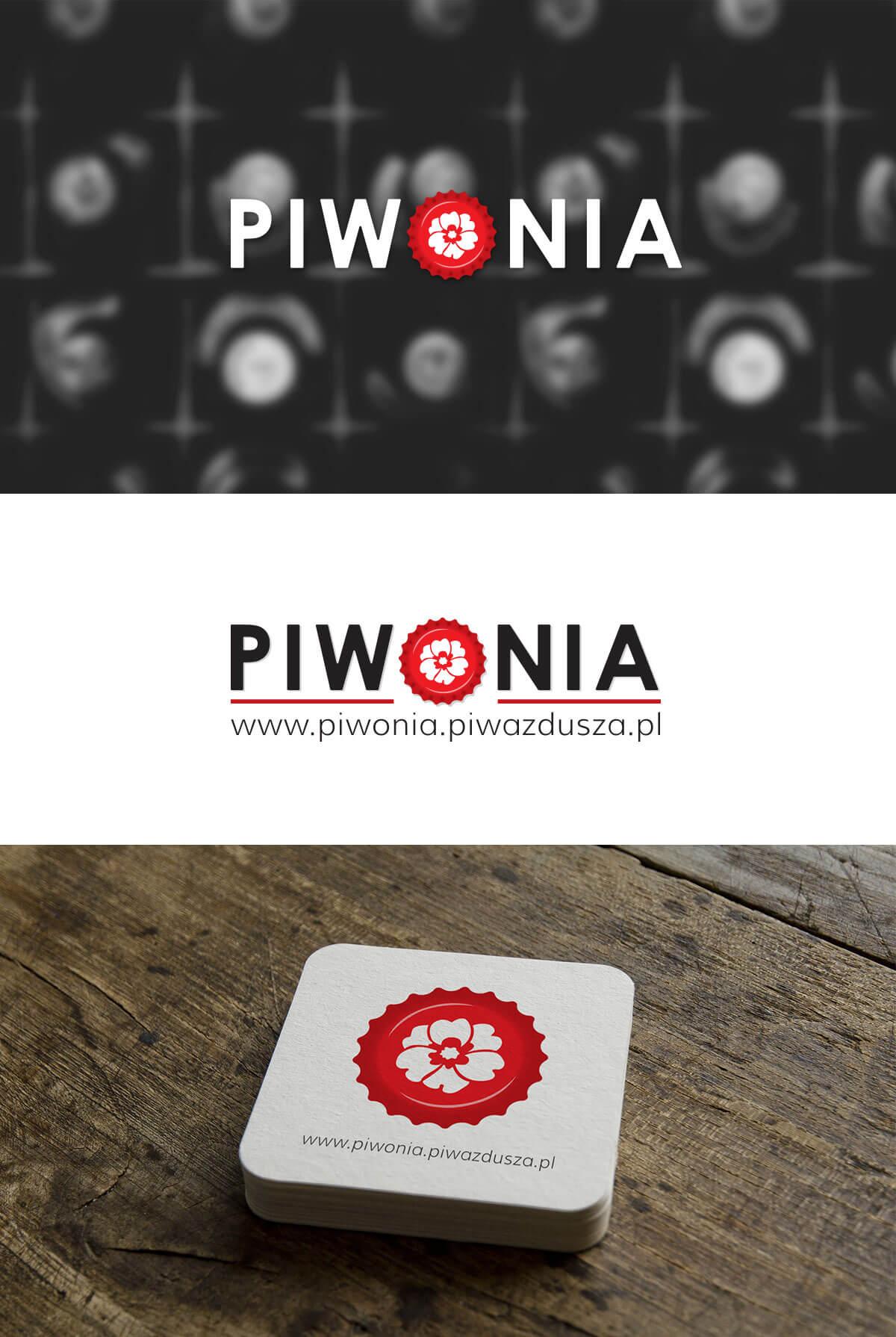 projektowanie logo piwonia