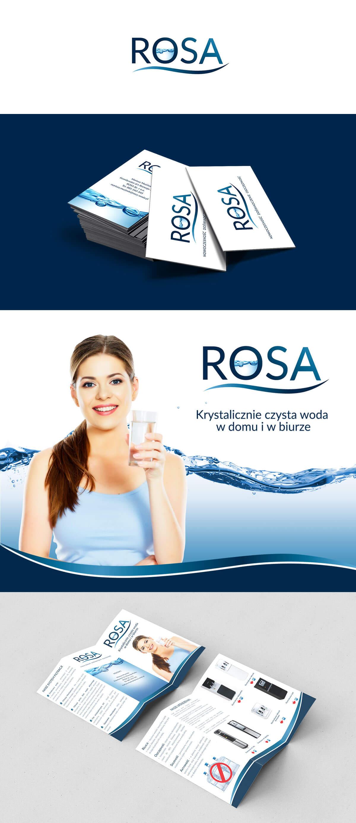 identyfikacja wizualna firmy Rosa