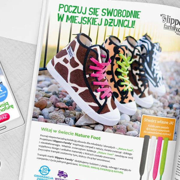 materiały promocyjne, druk dla slippers