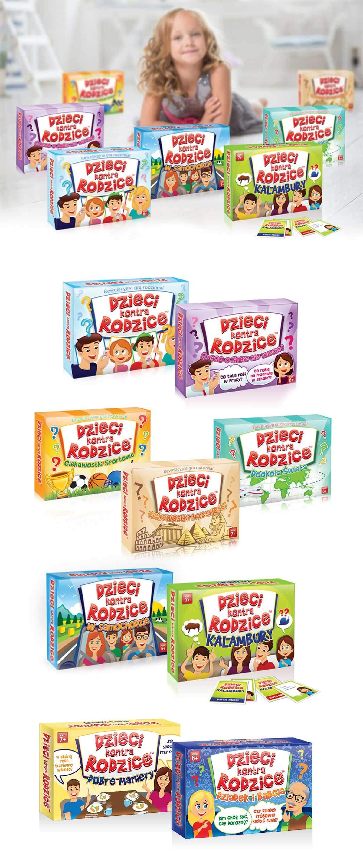design opakowań serii gier dla dzieci