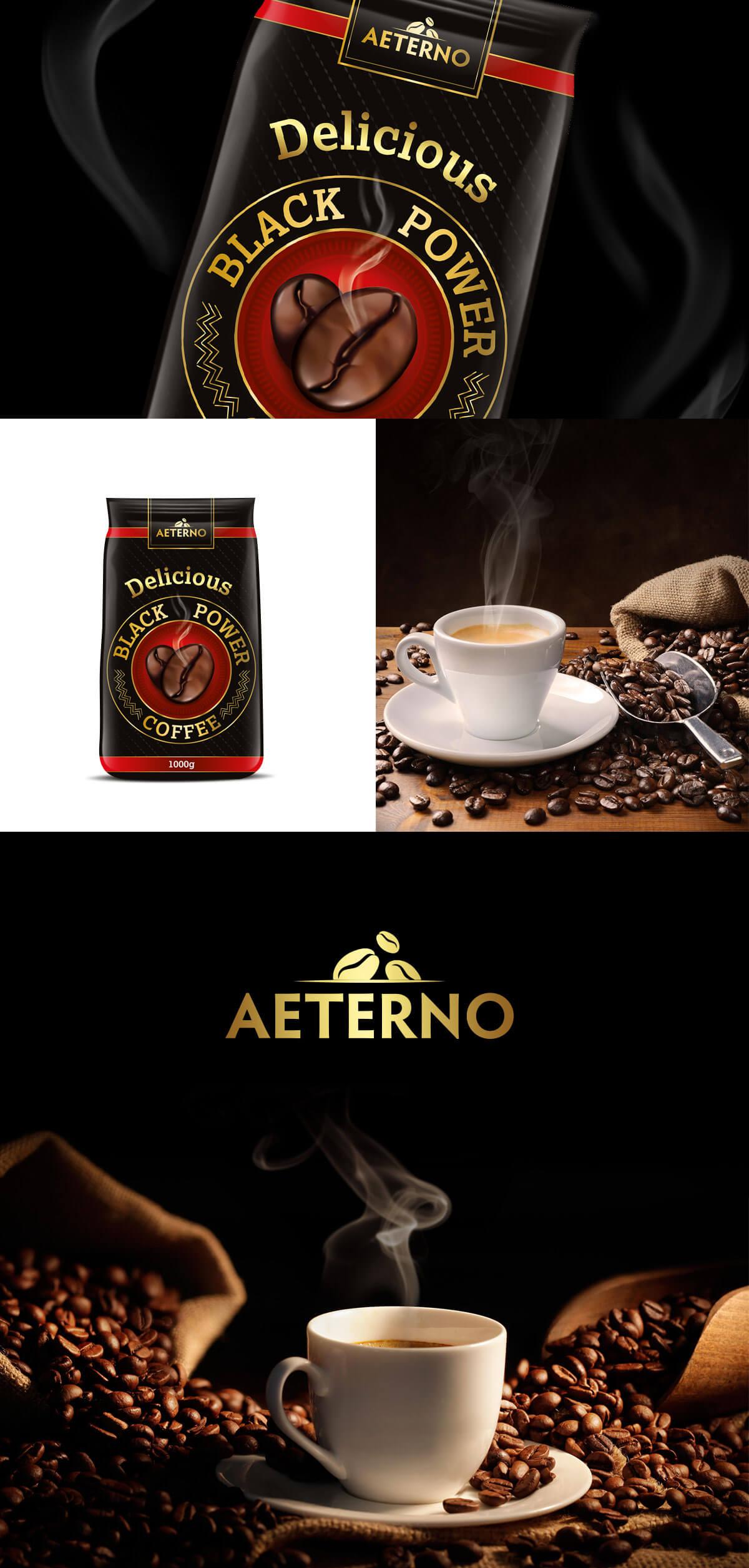 projekt opakowania kawy