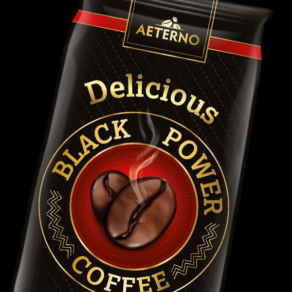 projekt opakowania kawa delicious