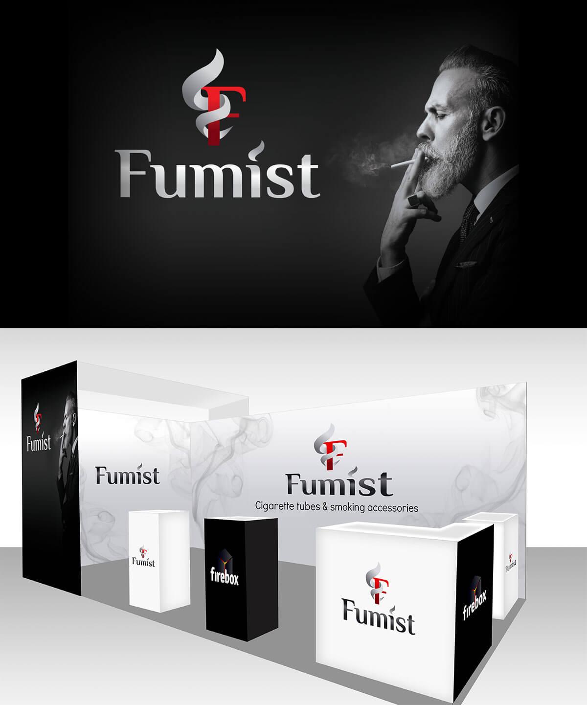 projekt stoiska targowego fumist