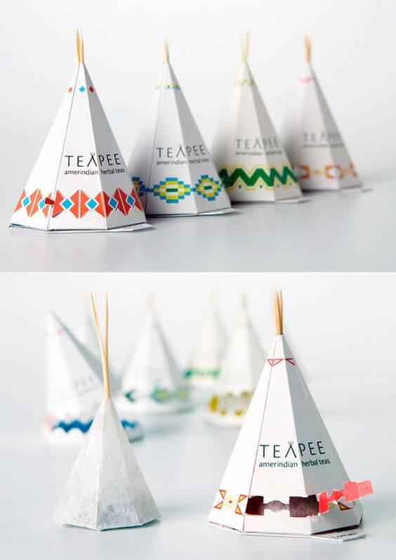 projekt opakowania na herbatę, opakowanie kartonowe, wykrojnik