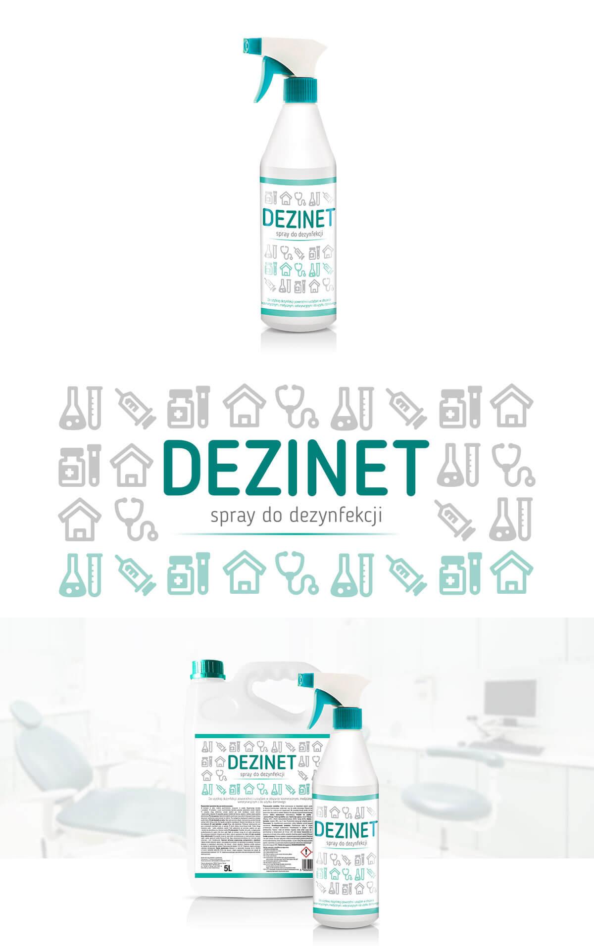 projekt etykiety środek do dezynfekcji