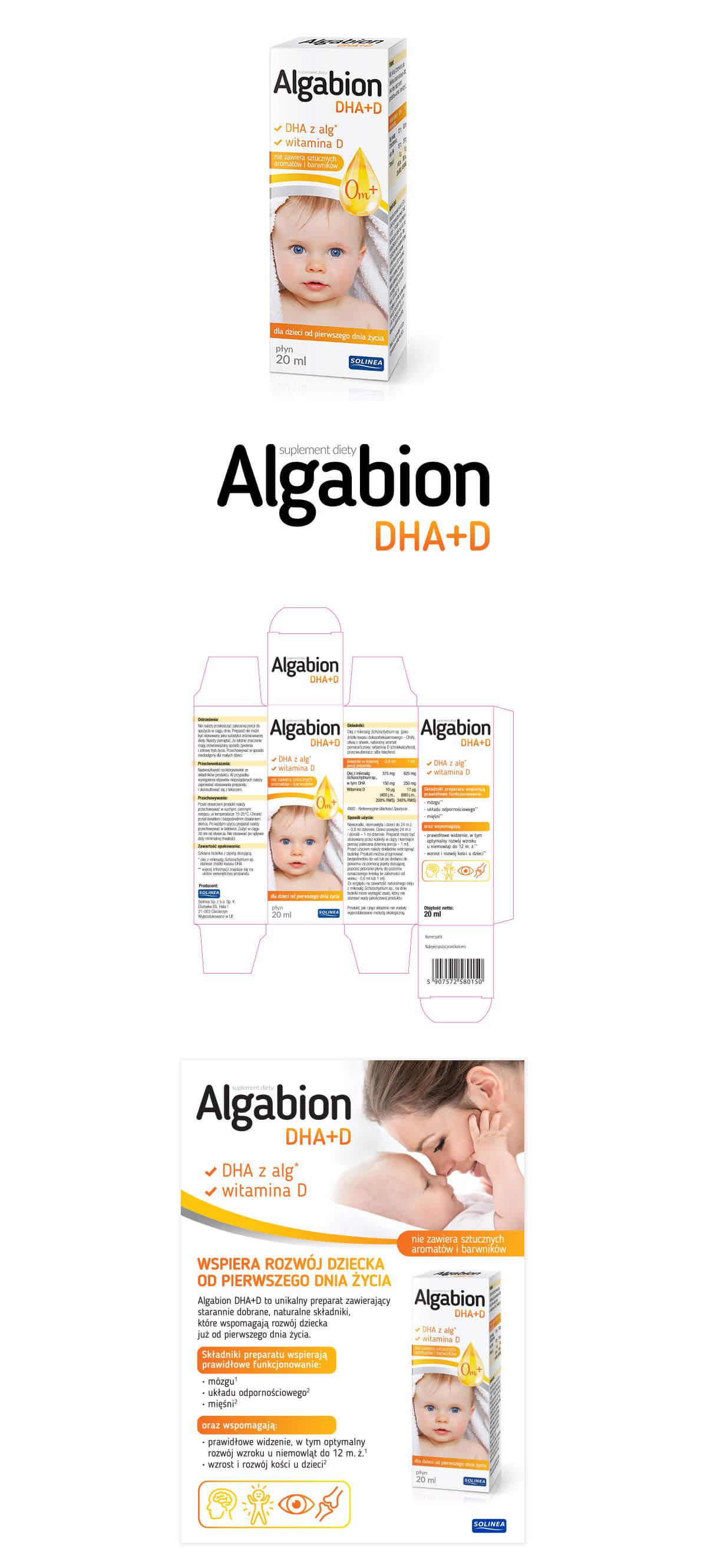 projekt kartonika suplementu Algabion