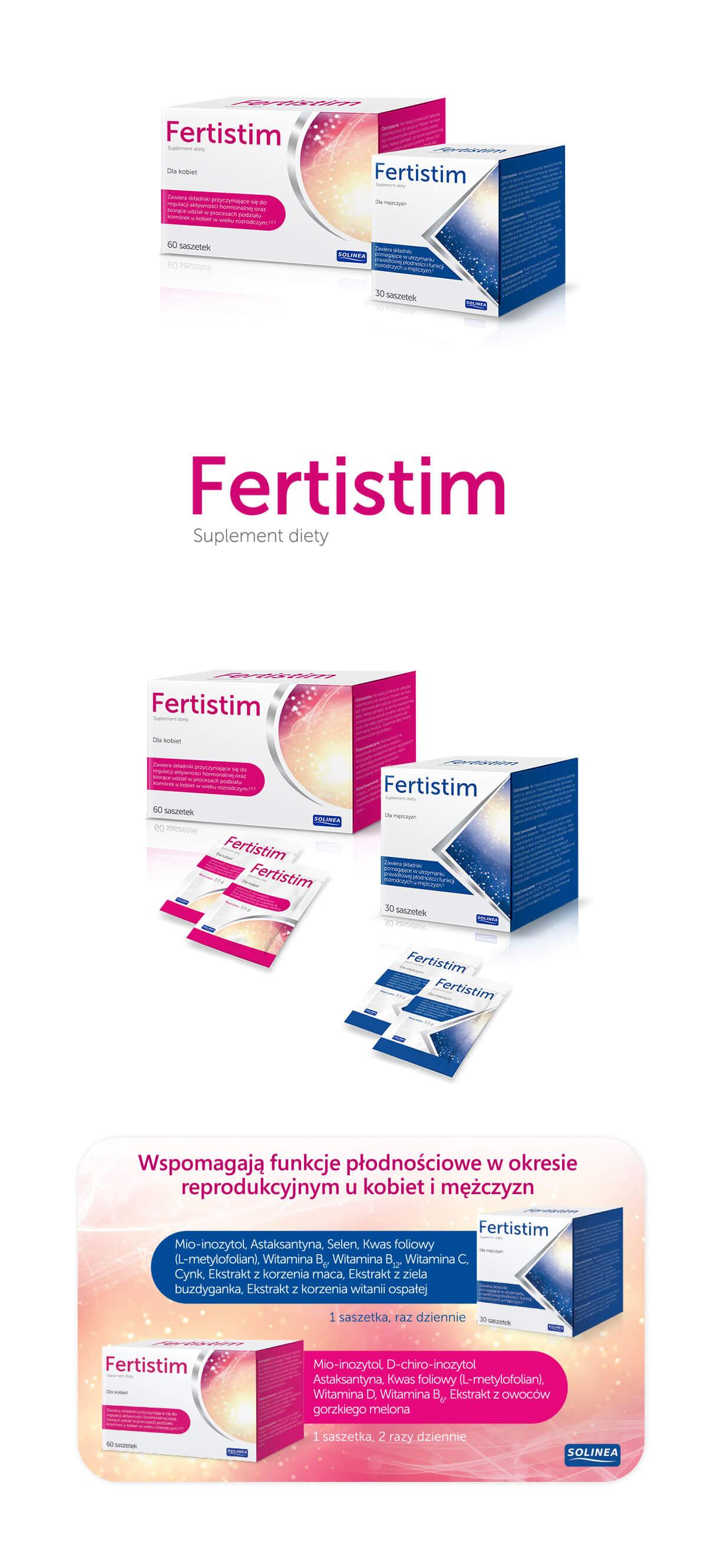 projekt opakowań suplementów diety Fertistim
